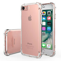 For iphone X 8 6S 7 Plus Case Clear Hybrid Slim Shockproof Soft TPU Bumper Cover
