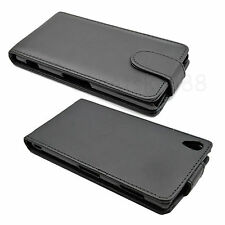 Black Business Flip Leather Skin Cover Case Accessories For Sony Xperia Phones