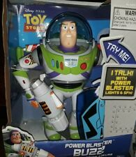 Toy Story Power Blaster Buzz Lightyear TALKING LIGHTS SOUND DISNEY RARE NEW💥✔