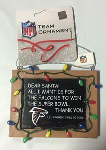 Atlanta Falcons Christmas Tree Ornament Chalkboard - All I want is a Superbowl