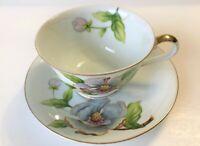 *VINTAGE* Roselyn - Floral (Dogwood or Magnolia?) pattern - teacup & saucer