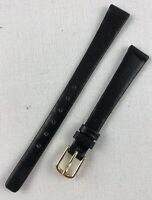Kreisler Genuine Calfskin 11mm Black Non-Stitched Ladies Leather Watch Band W126