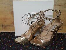 Steve Madden Roxie Gold Snake Women's Heels Shoes Size: 8M NWB