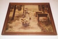 Antique Flower Girl in Holland Lithograph George Hitchcock Print Reinthal Newman