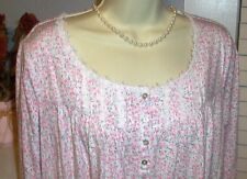 NWT Small S Eileen West Pink Roses Nightgown NEW Dreamtime 100% Cotton Gown