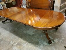 """Antique Large Mahogany Extension Table 147"""" long - Dining / Conference Table"""