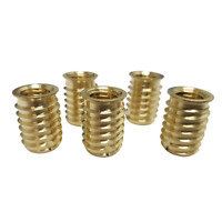 Through Tapped Self Tapping Inserts Brass: M5 To M10 (5 Pack)