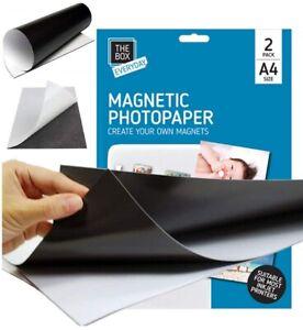 6 x A4 Magnetic Photo Paper Printing Inkjet Gloss Create Printable Fridge Magnet