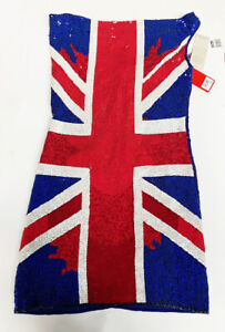 Geri Halliwell Limited Edition Sequin Union Jack Dress Size 8  RRP £199