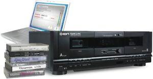 ION TAPE 2 PC Dual Cassette Tape Deck Player USB Conversion System w/ USB & RCA