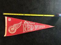 Vintage Detroit Red Wings NHL Pennant
