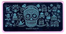 Nail Art Stamping Halloween Theme DIY Manicure Template Image Plate Stencil