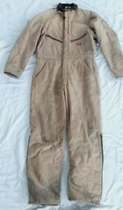 Vintage Distressed DICKIES Insulated Cotton Duck Coveralls Jumpsuit Sz 46-48 XL