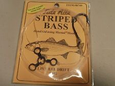 24 STRIPED BASS TIDE RITE R749 LIVE EEL DRIFT RIG SALTWATER FISH RIG MUSTAD