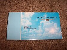 2009 Chrysler Sebring Owner Operator User Guide Manual LX Touring Limited V6