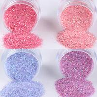 4Boxes/Set 10ml Pink Purple Nail Art Glitter Powder Sheets  Tips