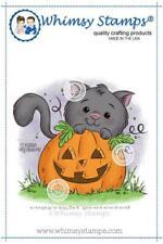 """Stempel """"Kitty 'n Pumpkin"""" Whimsy Stamps, Katze mit Kürbis, Halloween"""