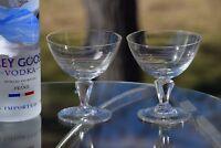 Vintage CRYSTAL Cocktail Martini Glasses, Set of 4 Mixologist Craft Cocktails
