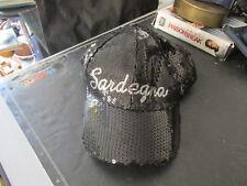 Cappello Sardegna Baseball Cap paillettes nero uomo / donna taglia 57 nuovo