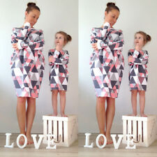 New Family Clothing Matching Mom And Daughter Kid Clothes Striped Dresses Outfit