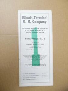 1953 Illinois Terminal Railroad Co Employee Timetable No. 1 ITC Vintage Original
