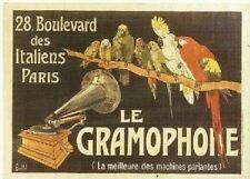 FRENCH VINTAGE POSTER 50x70cm RETRO AD PATHE MASTERVOICE GRAMOPHONE