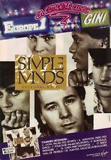 Publicité advert concert french tour LP album advertising SIMPLE MINDS 1985