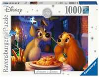 RAVENSBURGER 13972 LADY AND THE TRAMP 1000 PIECES DISNEY JIGSAW PUZZLE EDITION