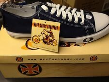 West Coast Choppers Warrior Lo Navy Jesse James Shoes Sz 10  New