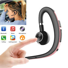 Bluetooth Headset Stereo Earphone w/ Microphone for Business Car Driver Outdoor