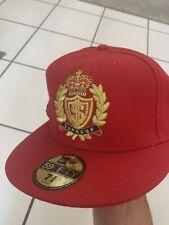 SUPREME NEW ERA Hat Cap SIZE 7 3/4 Royal Red Gold World Famous **See Description