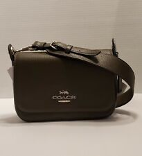 NWT Coach Small Jes Messenger  SV/Cargo Green