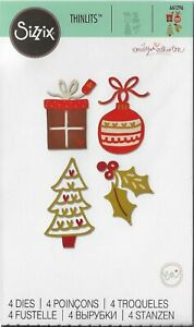 Sizzix Thinlits 4 Die Set FESTIVE FANCIES by Emily Atherton #661296 Discontinued