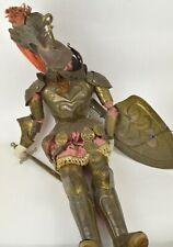 Poupée marionette Italienne ancienne Opera dei Pupi en bois sculpté et métal