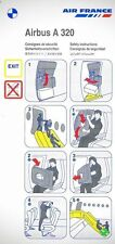 Air France Collectable Airline Safety Cards