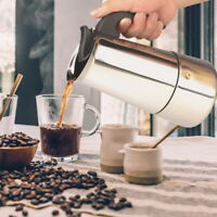Edelstahl Kaffeebereiter Espressokocher Pressfilterkanne Mokka Kaffeekocher JO