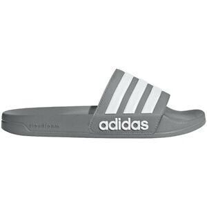Mens Adidas Adilette Shower Grey White Slides Athletic Sandal B42212 Sizes 9-10