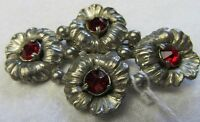 Antique Paul Sargent Signed 24KP 1930's Ruby Rhinestones Goddess Jade Jewelry