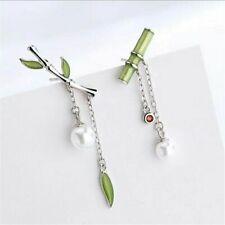 Bamboo Earrings Female Retro Chinese Style Asymmetric Small Fresh Bamboo Earring