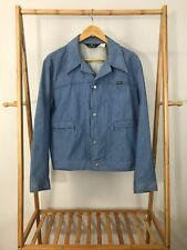 VTG 60s 70s Blue Bell Maverick Snap Light Blue Denim Chambray Jacket L USA RARE