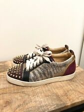 Christian Louboutin Womens Louis Junior Spikes Sneakers Sz 38 1/2