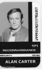 COSMOS 1999 Carte identification Alan Carter Space 1999 Alan Carter id card