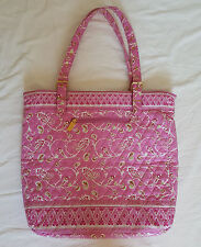 """Americana by Sharif Quilted Pink Paisley Beach Yoga Diaper BagTote EUC 17""""x16"""""""