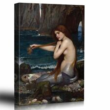A Mermaid by John Williams Waterhouse, Reproduction of the Oil on Canvas- 16x24