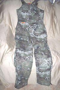 Womens Medium Camo Bib Overalls Insulated Hunting Bibs Strata Camo Coveralls Bib