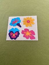 Vtg Hambly Stickers Mylar Colorful Tropical Flowers