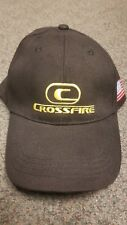 Crossfire Shooting Gear Adult Adjustable Black Hat Cap EUC FREE US S&H (A)