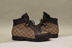 Gucci Nebraska Monogram Boots  269999 GG 6.5 (fits USA 7.5) Authentic !