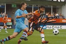 LUTON: YASER KASIM SIGNED 6x4 ACTION PHOTO+COA