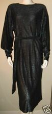 GIORGIO SANT ANGELO BLACK METALLIC KNIT DRESS DISCO Vintage 1970's size 8